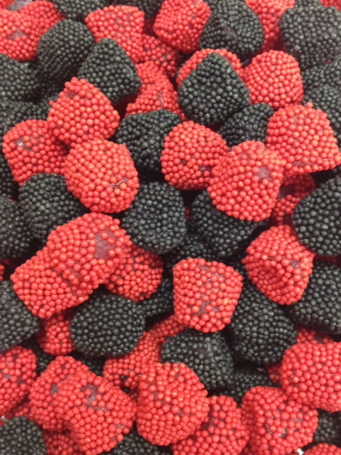 black and rd raspberry gummies